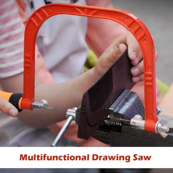 Mini sierra de alambre de curva ajustable con marco de acero