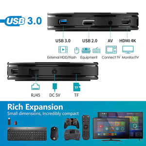 Image 5 - ТВ приставка Touyinger HK1 MINI + Android 9,0 RK3318 четырехъядерный 64 бит Cortex A53 2/4 ГБ 16/32/64 ГБ 2,4G/5 ГГц Wifi Bluetooth H.265 4K USB