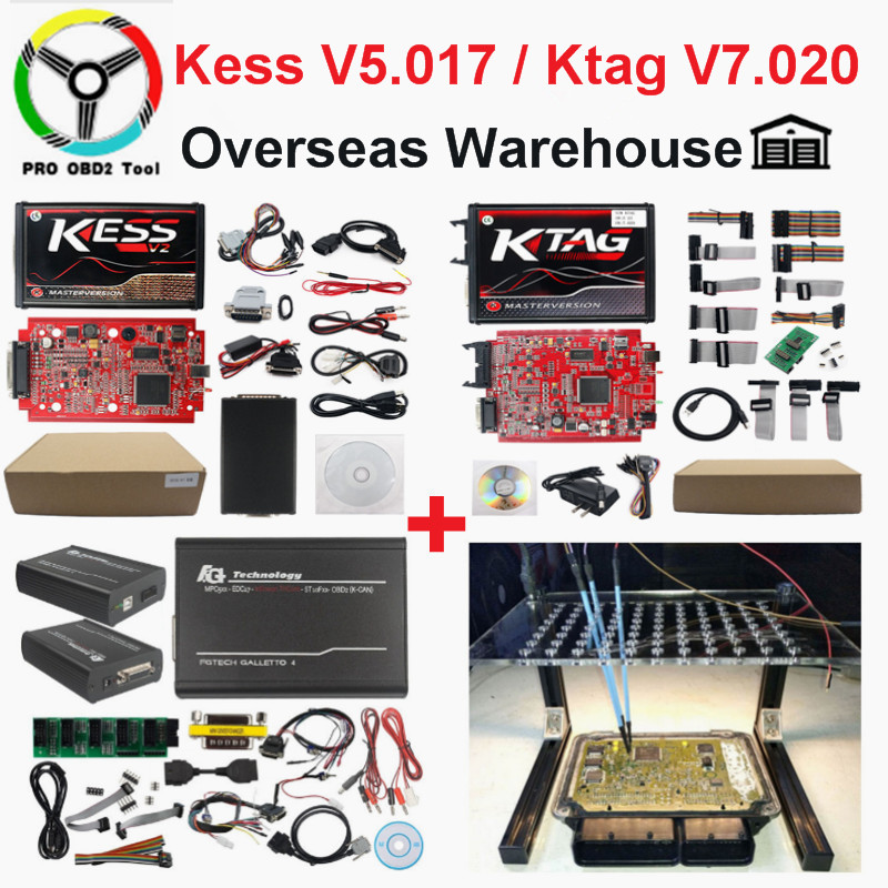 2019 Mestre Kess Online Vermelho UE V2 V5.017 V2.47 Chip Tuning ECU Ktag Ktag Mais Novo V2.25 Sem Tokens Limitada V2.23 programador ECU
