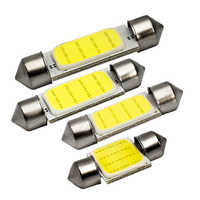 1x festón LED COB bombilla de señal 31mm 36mm 39mm 41mm C5W LED luz de lectura Interior de coche 12V 7000K blanco lámpara de placa de matrícula