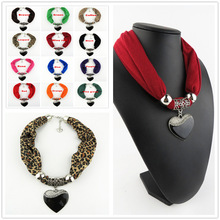 New big jewelry scarves, high quality love pendant fashion ladies with scarves