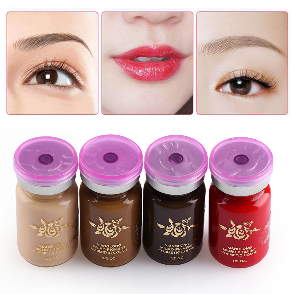 Eyebrow Lip Liner Tattoo Ink Emulsions Semi Permanent Eyebrow Makeup Durable Pigment Microblading Beauty Tool Supplies