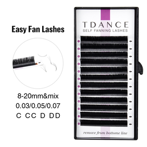TDANCE Easy fanning Fast Fan Blooming Eyelash Extensions Individual Lashes Automatic High Quality Flowering Volume Eyelash(China)