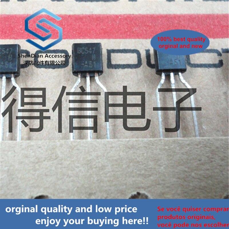 30pcs 100% Orginal New BC547B BC547 547 TO-9245 V, 100 MA NPN General-purpose Transistors  Real Photo
