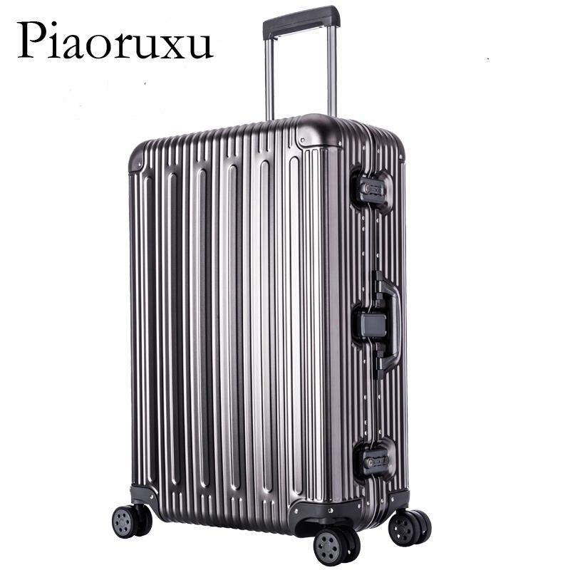 100% wszystkie ze stopu Aluminium ze stopu Aluminium bagaż Hardside Rolling wózek na bagaż walizka podróżna 20 bagaż na bagaż 25 29 bagaż rejestrowany w Bagaż podróżny od Bagaże i torby na  Grupa 1
