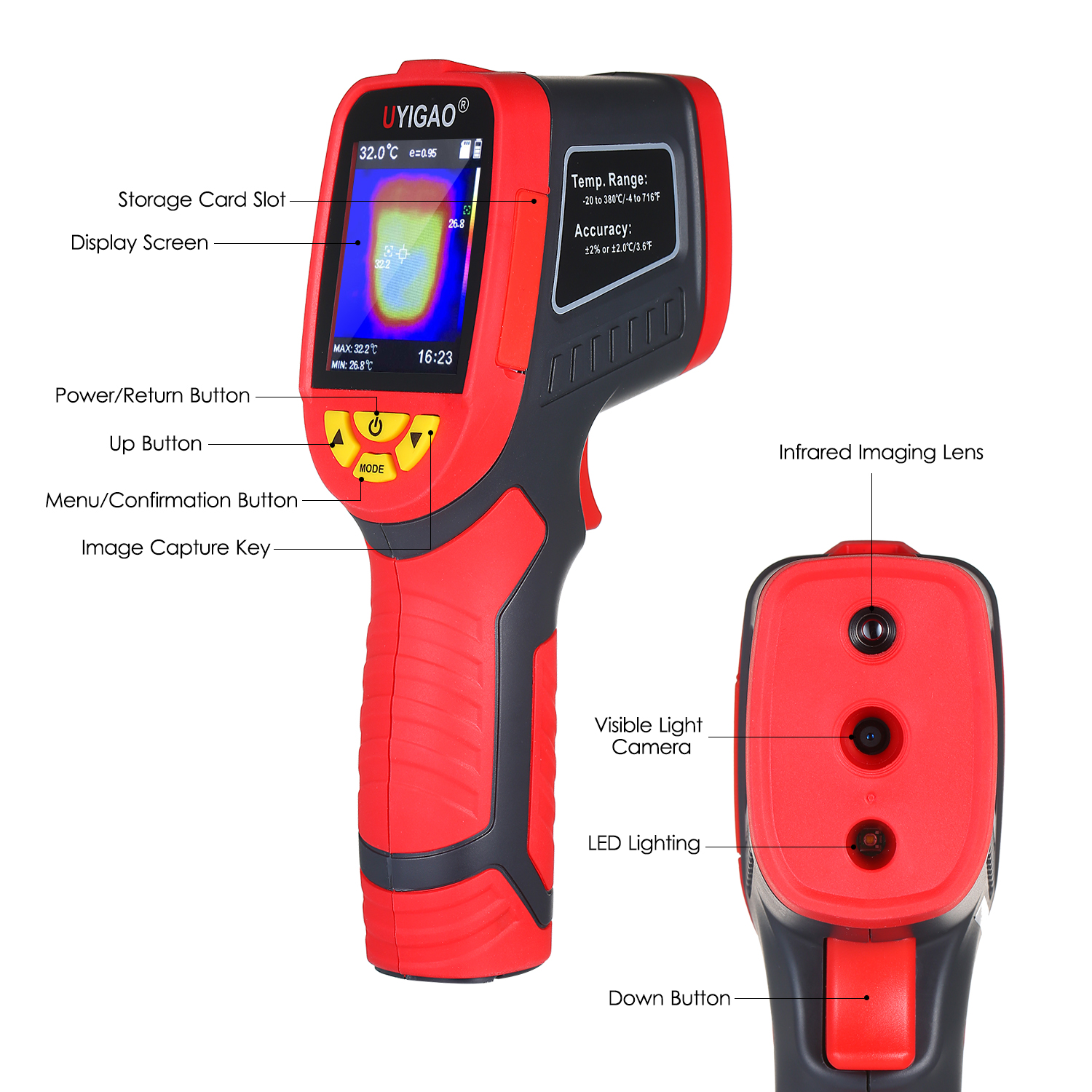 Digital Mini Infrared Thermal Camera Made With ABS Material For Measuring Tools 3
