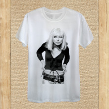 Debbie Harry T-Shirt Design Blondie American Rock Band Unisex Women Fitted Tops Tee Tee Shirt(China)