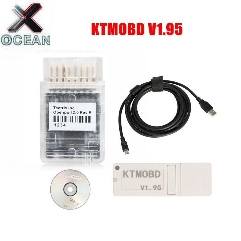 KTMOBD V1.95 ECU Programmer&Gearbox Power Upgrade Tool Plug And Play ECU Chip KTM OBD 1.95 Tuning Scanner Support Multi-Protocol