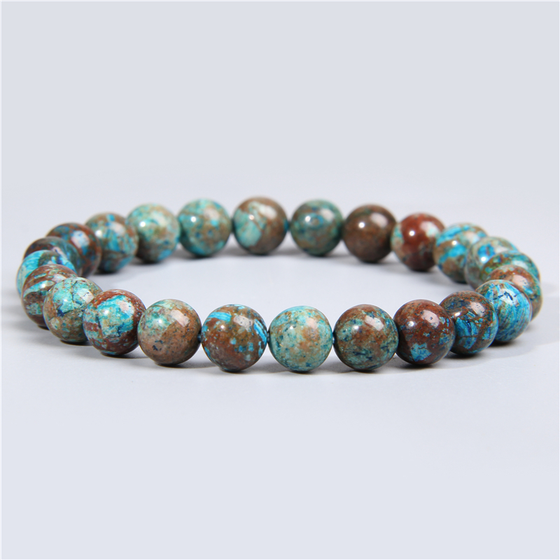 Real natural lace crazy agates stone beads bracelet smooth matte lapis lazuli fluorite quartz crystal beads bracelet men jewelry