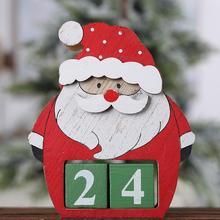 Рождественский календарь с обратным отсчетом календарь Санта-Клауса Рождественский Декор kalendarz adwentoy календарь avent calendario@ 30
