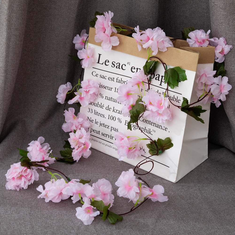 2020 210cm Silk Sakura Cherry Blossom Vine Wedding Arch Decor Layout Home  Party Rattan Wall Hanging DIY Garland Wreath From Sophine08, $24.31 |  DHgate.Com