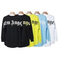 19SS Palm Angels T Shirt Big Logo Long Sleeves Palm Angels T shirt High Quality Streetwear Hip Hop Palm Angels Tshirt Men Women