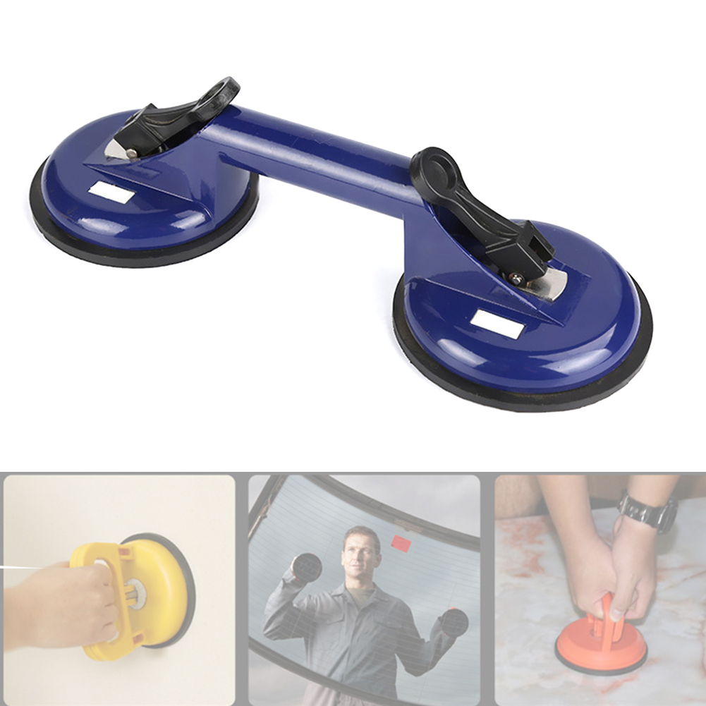 Moving Powerful Handhold Vacuum Lifter Hand Tool Glass Installing Aluminum Alloy Household Double Locking Suction Cup