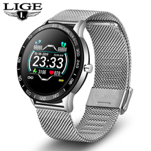 цена на LIGE New fashion Smart Watch Men Women Waterproof Health Smart Watch Heart Rate Blood Pressure Monitor Pedometer for Android ios