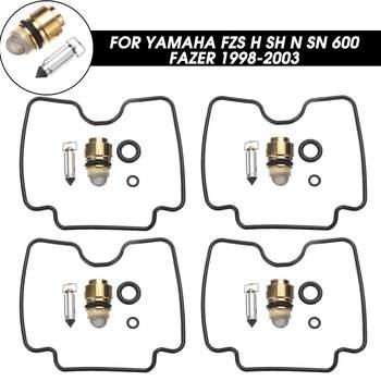 Autoleader 4x zestawy naprawcze gaźnika motocykla pływające igły odbudować zestaw narzędzi dla Yamaha FZS H SH N SN 600 Fazer 1998-2003 tanie i dobre opinie Metal Plastic