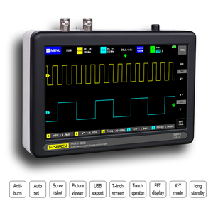 Image 4 - Ads1013d 2 canais 100mhz faixa largura 1gsa/s taxa de amostragem osciloscópio com 7 Polegada cores tft lcd tela de toque