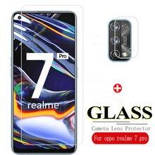 Vidro temperado para oppo realme 7 pro protetor de tela em realmi 7pro real me 7pro câmera lente de vidro filme proteção realme7pro