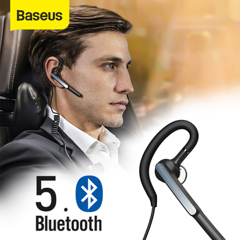 Baseus A10 Bluetooth Headset APTX Wireless Bluetooth Earphone AI Smart Handsfree Business Headset with HD Mic IP55 Waterproof
