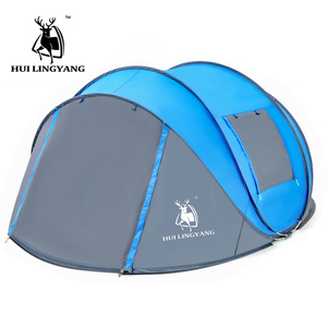 Image 3 - Large throw tent outdoor 3 4 6 persons automatic speed open throwing pop up windproof waterproof beach camping tent large space