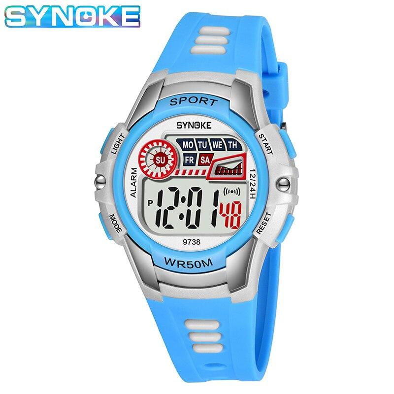 Горячая распродажа 2020 водонепроницаемый детский часы силикон резина часы детский повседневный наручные часы мальчики девочки светодиодный цифровой спорт часы подарок