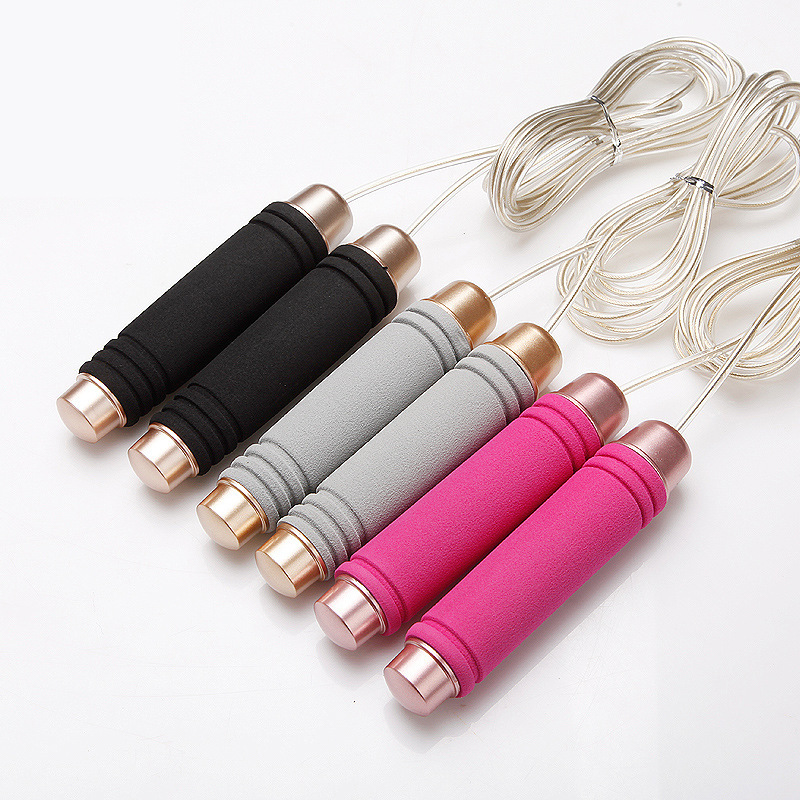 Taobao Hot Sales Steel Wire Rope Skipping With Bearings The Academic Test For The Junior High School Students Only Jump Rope Bea