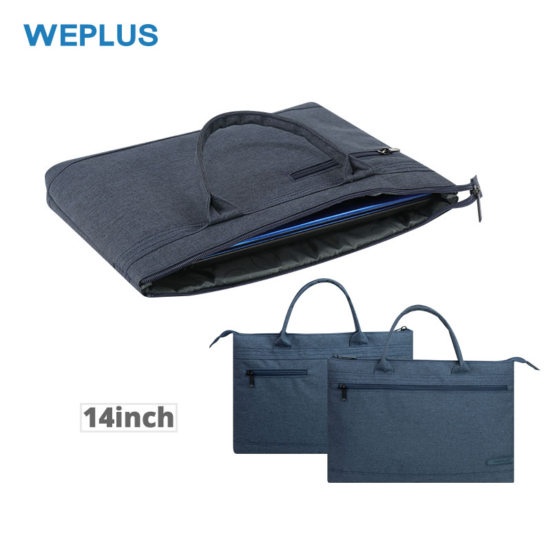 WEPLUS Daily Casual Handbag Simple Briefcase Computer Bags Business Laptop Bag For 14.6 Inch Notebook Portable Women Men Girl