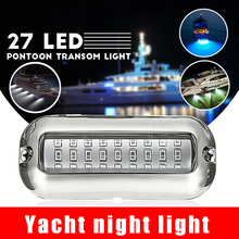 Newest Blue 27 LED Underwater Boat/Marine Transom Lights Stainless Steel Pontoon
