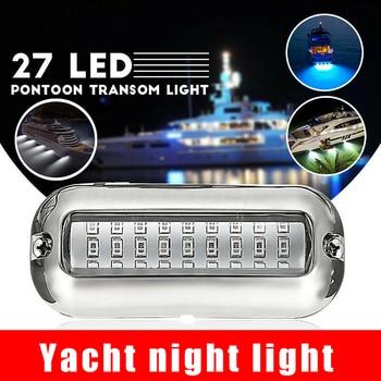 Newest Blue 27 LED Underwater Boat/Marine Transom Lights Stainless Steel Pontoon newest blue 27 led underwater boat marine transom lights stainless steel pontoon