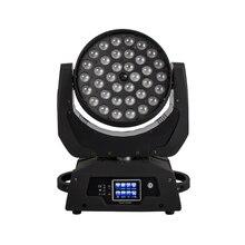 Быстрая светодиодный светильник с движущимся зумом 36x18 Вт RGBWA+ UV 6в1 сенсорный экран DMX 13/19 каналов подходит для DJ Disco вечерние бар