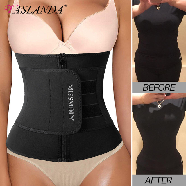 Neoprene Waist Trainer Corset Sauna Sweat Belt Slimming Body Shaper Abdominal Trimmer Shapewear Modeling Straps Weight Loss Faja