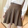 Осень-зима 2020, свитер, плиссированная юбка, Женская Милая блестящая вязаная мини-юбка хорошего качества, женская элегантная юбка