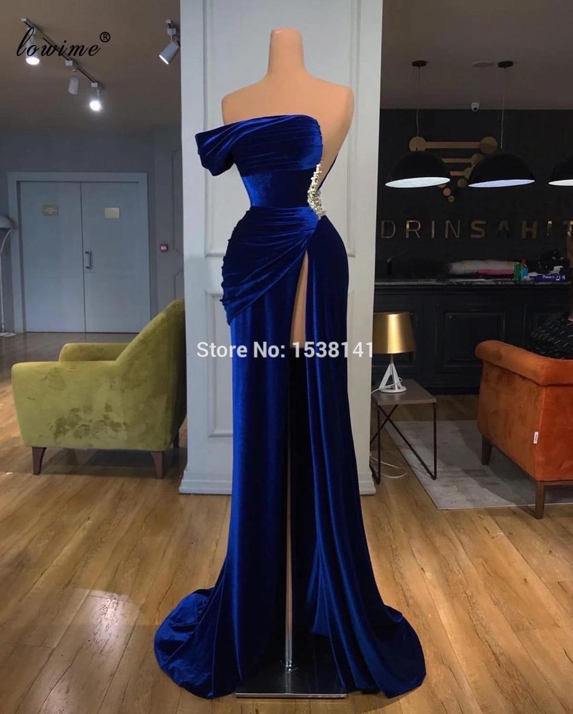 New Elegant Royal Blue Evening Dresses Long Mermaid Sexy Evening Gowns  Dubai Prom Dresses Evening Wear Celebrity Dress Robes