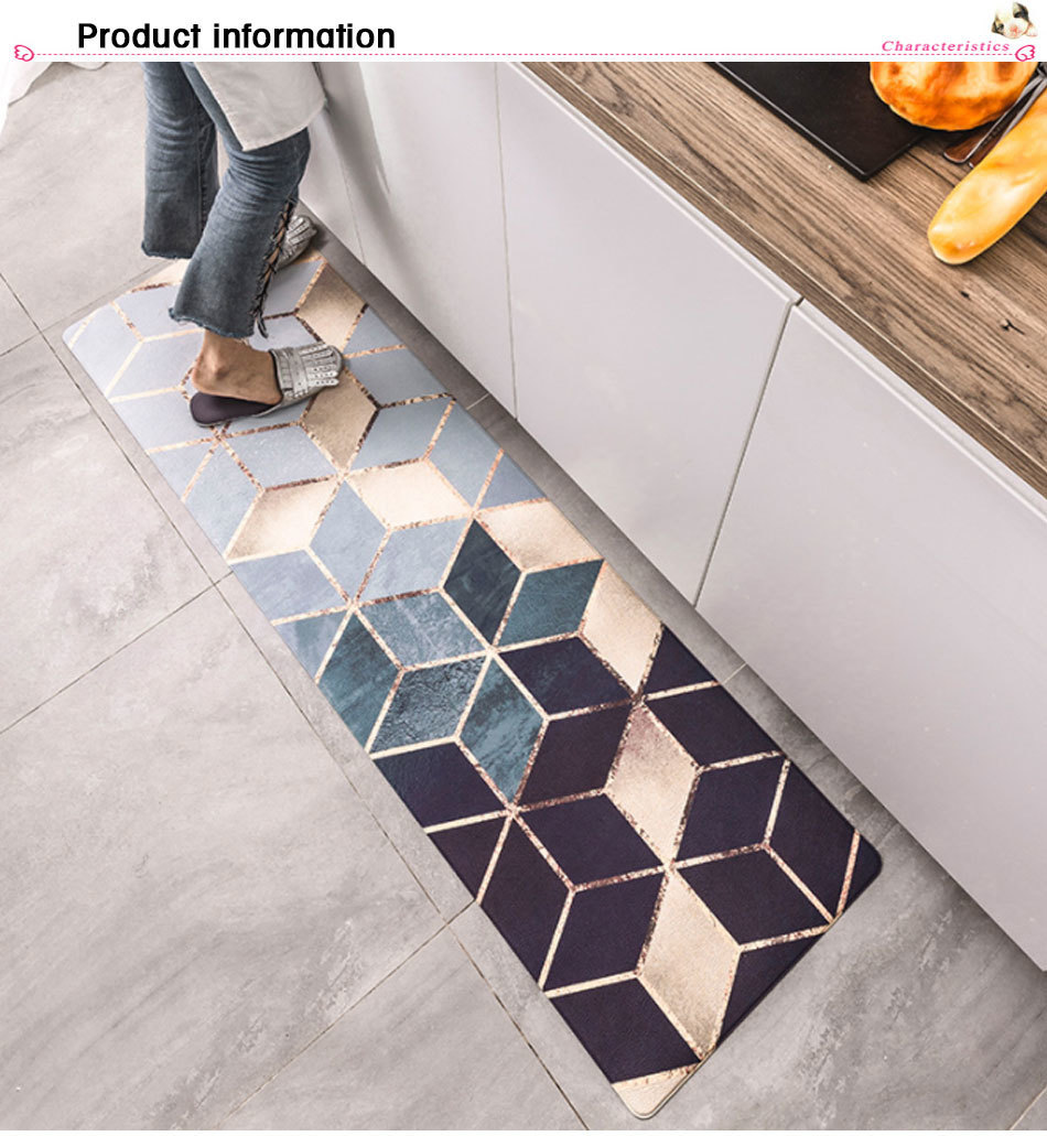 Kitchen Carpets Pvc Leather Floor Mats Large Floor Carpets Doormats Bedroom Tatami Waterproof Oilproof Kitchen Rugs Porch Furniture Cushions Oversized