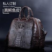 ourui настоящий крокодил кожа сумка крокодиловая кожа портативный одно плечо мужчины сумка Сумка мужчины сумка