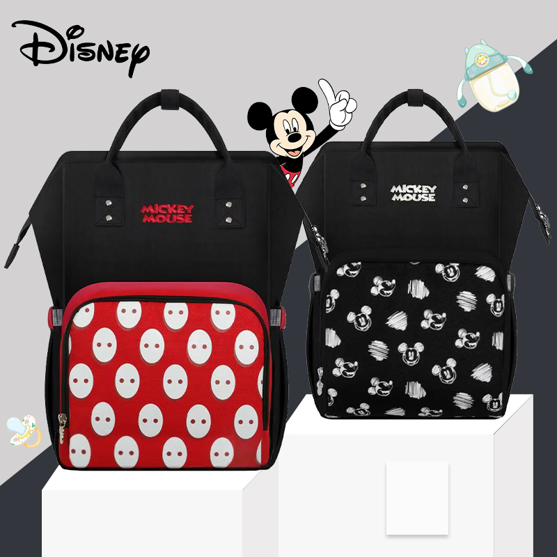 Disney New Cute Diaper Bag Large Capacity Mummy Maternity Nappy Bag Baby Travel Backpack For Baby Care Mummy Handbags Mickey New
