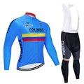 Одежда для велоспорта с длинным рукавом, комплект одежды для велоспорта, одежда для велоспорта, комбинезон, гелевая Подушка 19d, ropa ciclismo, uniformes...