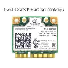 Intel wireless-n 7260 7260hmw nb mini pci-e 802.11b/g/n 300m wifi cartão para hp elitebook 820 840 850 ajuste 400po 600po 800eo