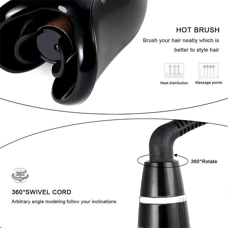 Щипцы для завивки волос многоавтоматические, плойка с ЖК-экраном, керамические вращающиеся Волшебные щипцы для завивки волос, инструменты для укладки волос 4