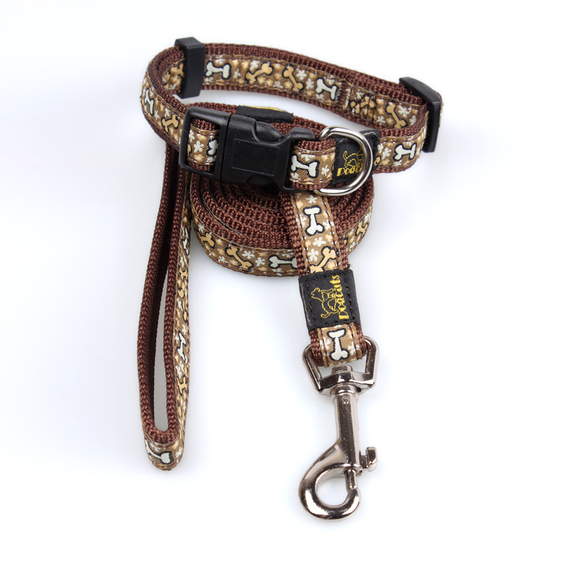Guangzhou Fiber Pet Supplies -made Dog Thread Double Layer Traction Two-Piece Set Golden Retriever Husky Dog Chain