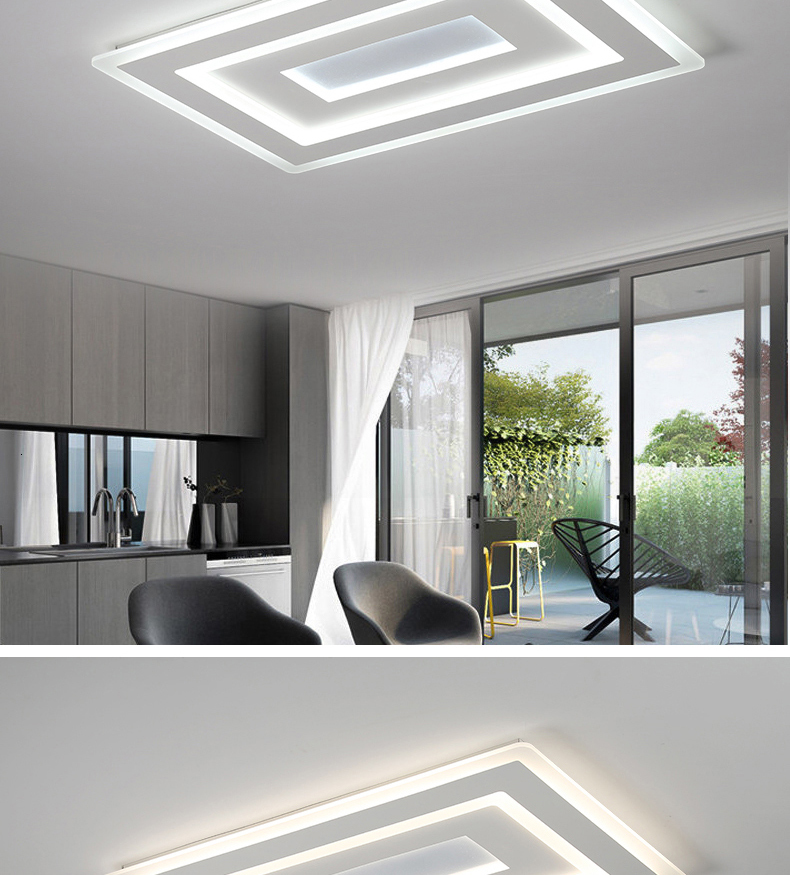 H55f4a10607bb4102bb56096a3b12ca08F Surface Mounted Modern Led Ceiling Lights for living room bedroom Ultra-thin lamparas de techo Rectangle Ceiling lamp fixtures