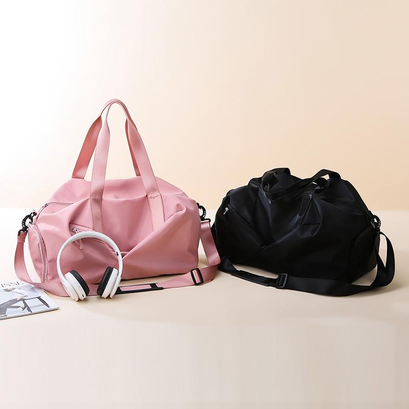 2021 travel bags cabin luggage Fashion female fitness Yoga bags shoe pocket Waterproof Nylon weekend sport bag for women Handbag