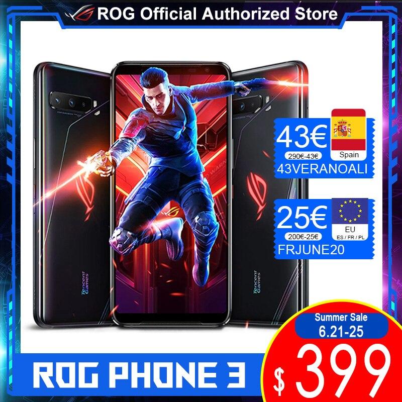 Глобальный Встроенная память версия ASUS ROG Phone 3 512 ГБ 12 Гб SD865 + 6000 мА/ч, Батарея 144 Гц AMOLED FHD 64MP тройные камеры ROG3 5G для телефона с мотивами игр