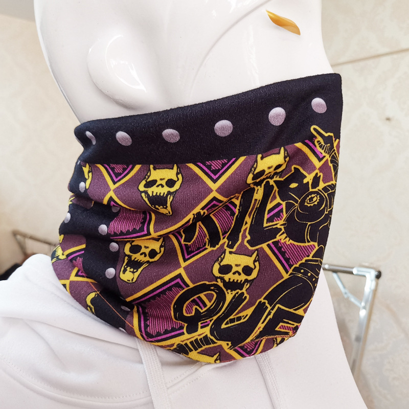 JoJo/'s Bizarre Adventure Kira Yoshikage Killer Queen Cosplay Demon Skull Scarf