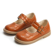 New 2020 Toddler Girls Leather Casual Shoes Spring Summer Strap Children Mary Ja