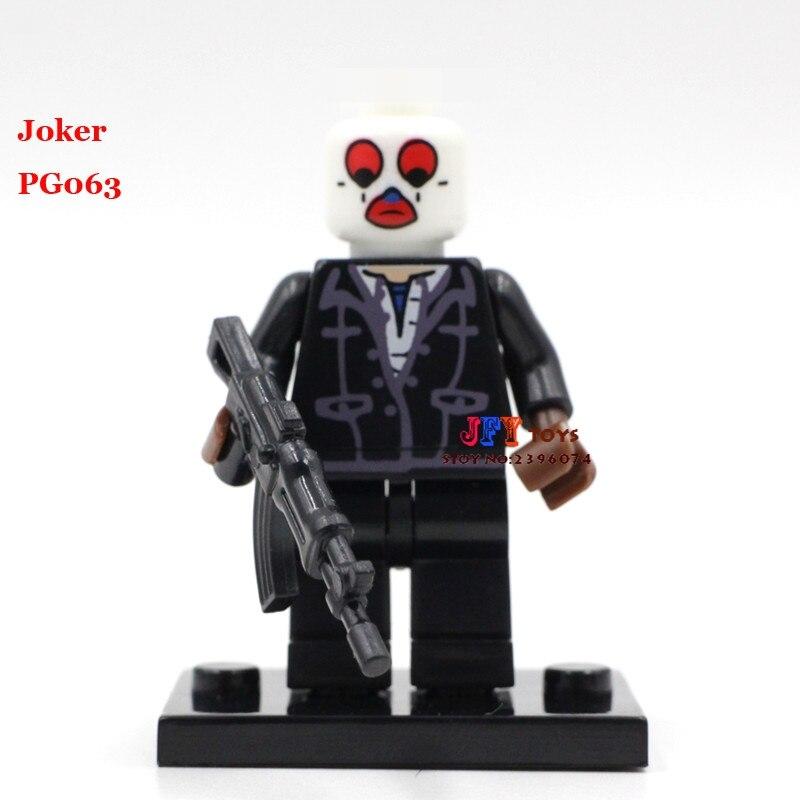Single Sale Superhero Marvel Joker Assemble Building Blocks Model Bricks Toys For Children Action Figures