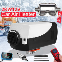 12V 2kw LCD Monitor Air diesels Fuel Heater Single Hole 5KW For Boats Bus Car Heater With Remote Control and Silencer For free