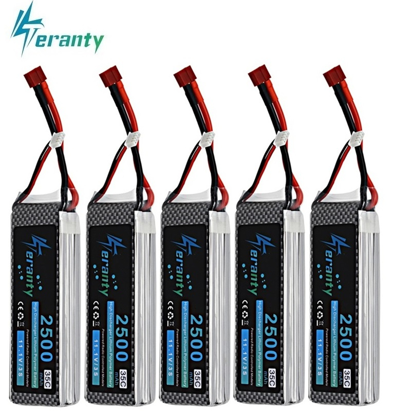 Teranty Power 11.1V 2500mAh Lipo Battery For RC Toys Car Boats Helicopter Parts 2200mah 3s Lithium Battery 11.1v Drone Battery