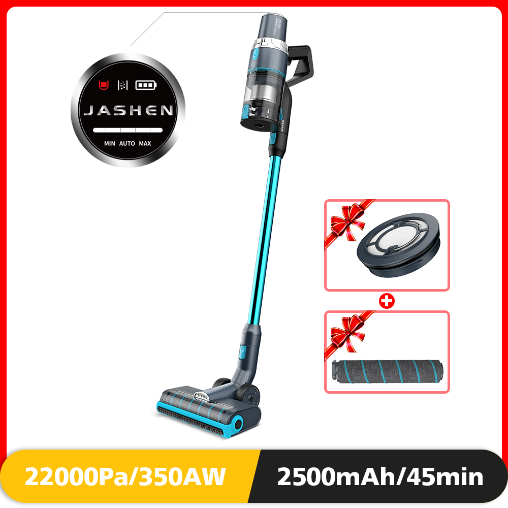 Cordless Vacuum Cleaner, 350W Power Strong Suction 2 LED Powered Brushes Cordless Stick Vacuum, Dual Charging Wall Mount