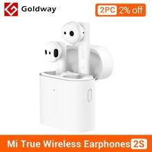 Xiaomi-auriculares inalámbricos Airdots Pro 2s con micrófono, dispositivo de audio TWS, con Control estéreo, manos libres