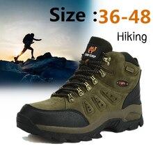 36-48 Autumn Winter Men Women Ankle Boots Leather Tactical Shoes